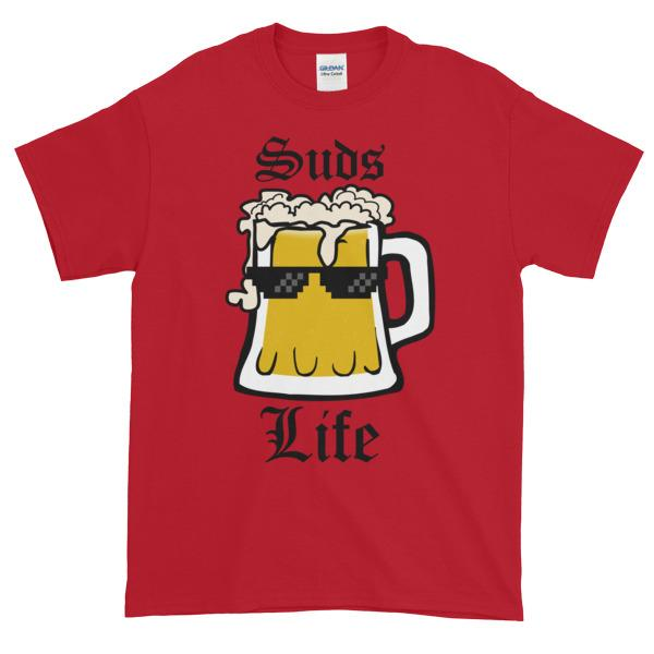 Suds Life T-shirt-Cherry Red-S-Awkward T-Shirts
