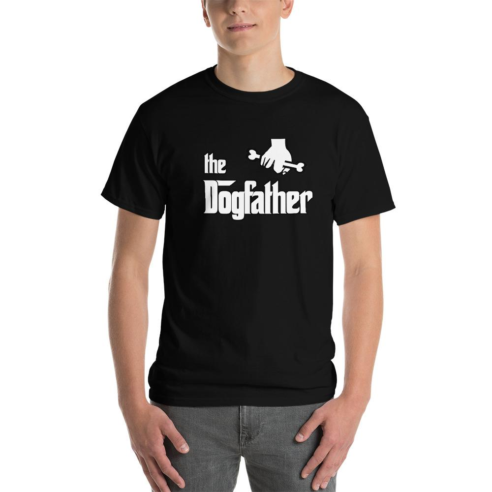 The Dogfather Dog Lover T-Shirt-Black-S-Awkward T-Shirts