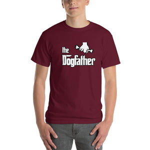 The Dogfather Dog Lover T-Shirt-Maroon-S-Awkward T-Shirts
