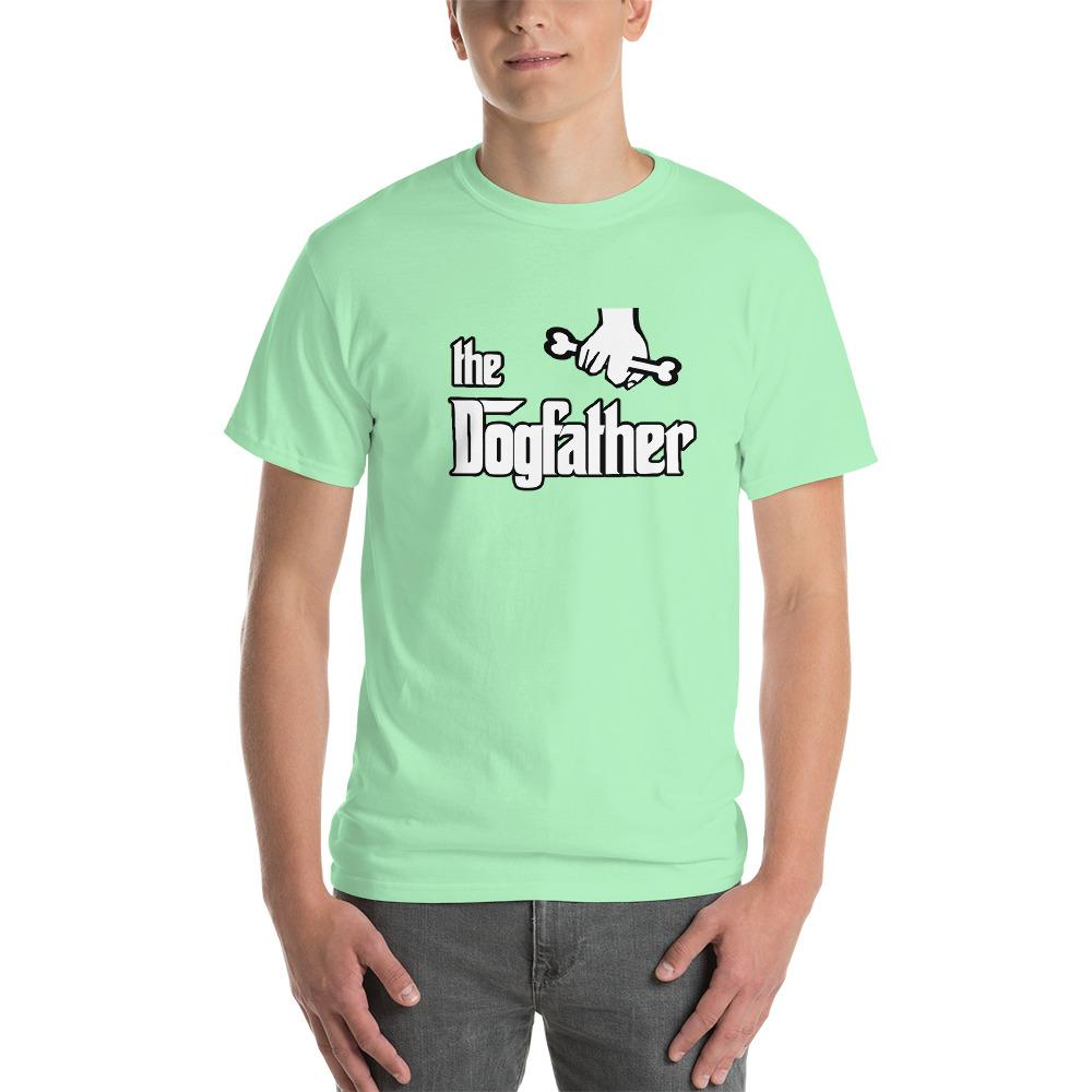 The Dogfather Dog Lover T-Shirt-Mint Green-S-Awkward T-Shirts