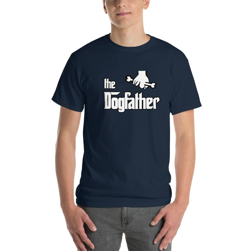 The Dogfather Dog Lover T-Shirt-Navy-S-Awkward T-Shirts