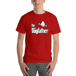 The Dogfather Dog Lover T-Shirt-Red-S-Awkward T-Shirts