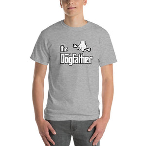The Dogfather Dog Lover T-Shirt-Sport Grey-S-Awkward T-Shirts