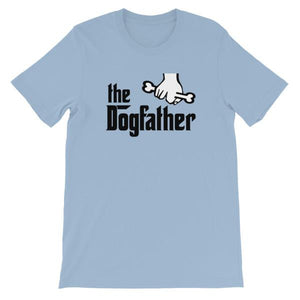 The Dogfather T-shirt-Light Blue-S-Awkward T-Shirts
