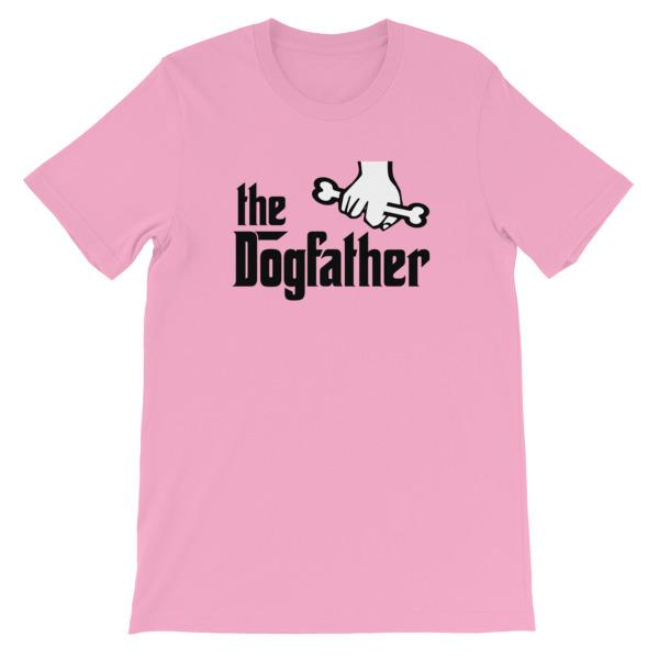 The Dogfather T-shirt-Pink-S-Awkward T-Shirts