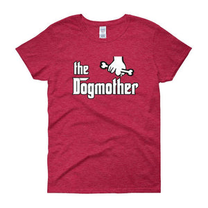 The Dogmother Funny Dog Lover Women's T-shirt-Antique Cherry Red-S-Awkward T-Shirts