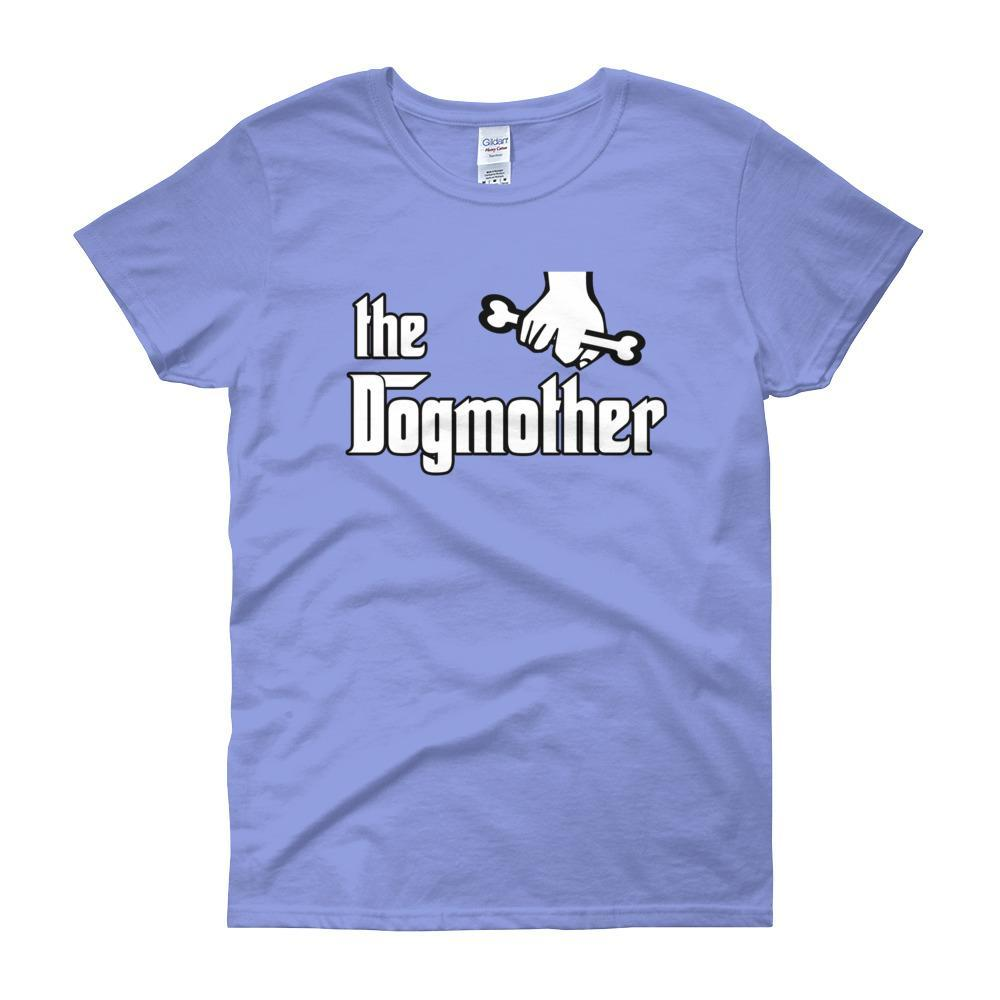 The Dogmother Funny Dog Lover Women's T-shirt-Carolina Blue-S-Awkward T-Shirts