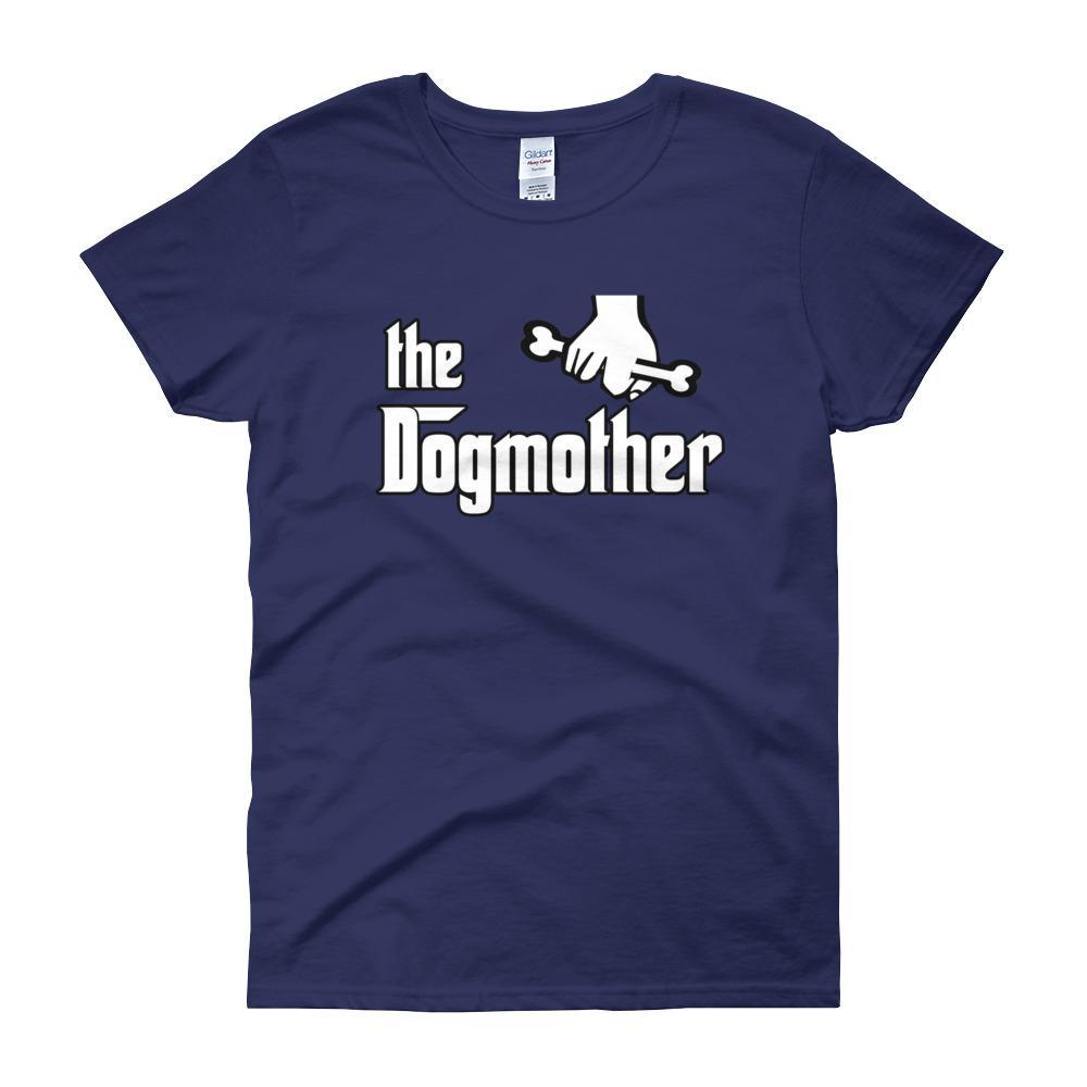 The Dogmother Funny Dog Lover Women's T-shirt-Cobalt-S-Awkward T-Shirts