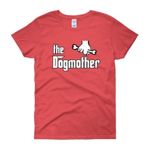 The Dogmother Funny Dog Lover Women's T-shirt-Coral Silk-S-Awkward T-Shirts