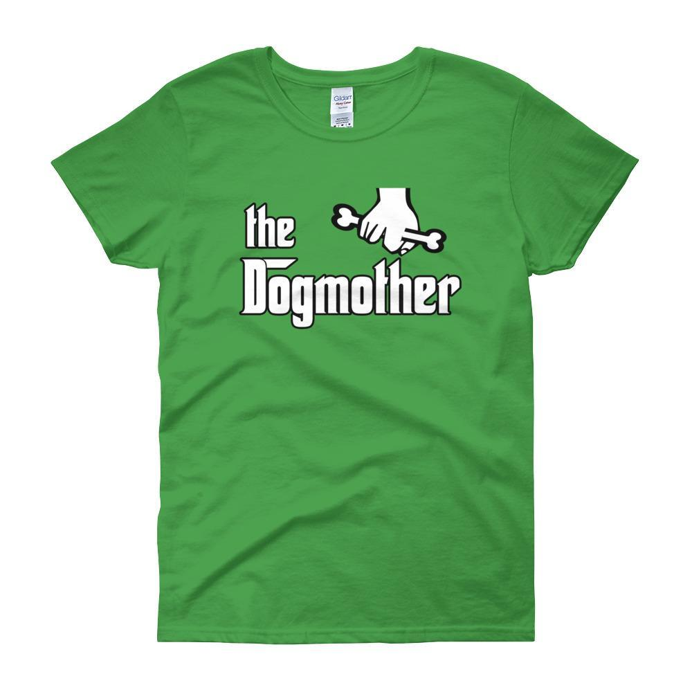 The Dogmother Funny Dog Lover Women's T-shirt-Irish Green-S-Awkward T-Shirts