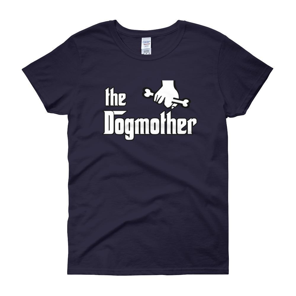 The Dogmother Funny Dog Lover Women's T-shirt-Navy-S-Awkward T-Shirts