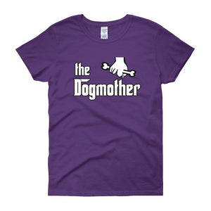 The Dogmother Funny Dog Lover Women's T-shirt-Purple-S-Awkward T-Shirts