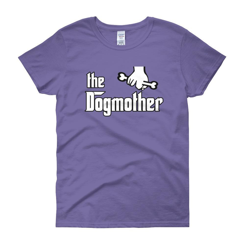 The Dogmother Funny Dog Lover Women's T-shirt-Violet-S-Awkward T-Shirts