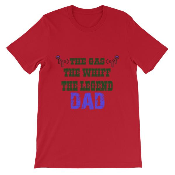 The Gas The Whiff The Legend Dad Fart T-shirt-Red-S-Awkward T-Shirts