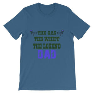 The Gas The Whiff The Legend Dad Fart T-shirt-Steel Blue-S-Awkward T-Shirts