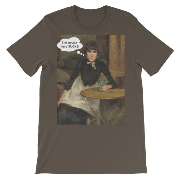 The Service Here Sucks Funny Art T-shirt-Army-S-Awkward T-Shirts