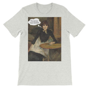The Service Here Sucks Funny Art T-shirt-Ash-S-Awkward T-Shirts