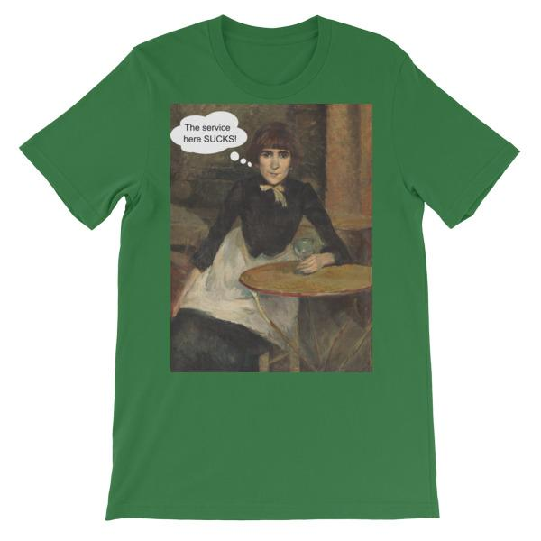The Service Here Sucks Funny Art T-shirt-Leaf-S-Awkward T-Shirts