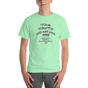The Truth Will Set You Free Unless You're a Criminal T-Shirt-Mint Green-S-Awkward T-Shirts