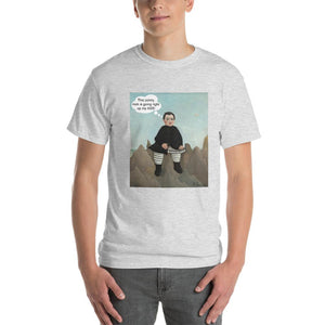 This Rock is Going Right Up My Ass Funny Art T-Shirt-Ash-S-Awkward T-Shirts
