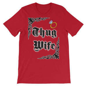 Thug Wife T-shirt-Red-S-Awkward T-Shirts