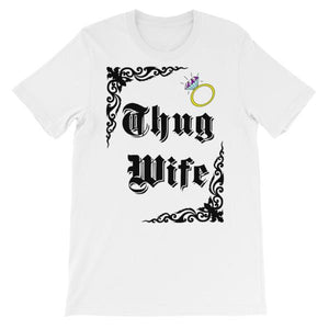 Thug Wife T-shirt-White-S-Awkward T-Shirts