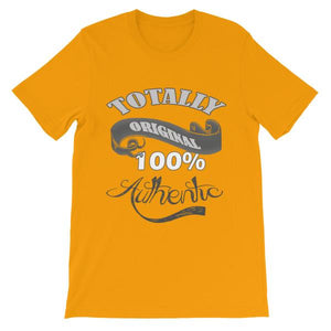 Totally Original 100% Authentic T-shirt-Gold-S-Awkward T-Shirts
