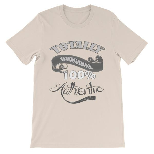 Totally Original 100% Authentic T-shirt-Soft Cream-S-Awkward T-Shirts