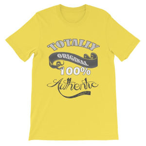 Totally Original 100% Authentic T-shirt-Yellow-S-Awkward T-Shirts