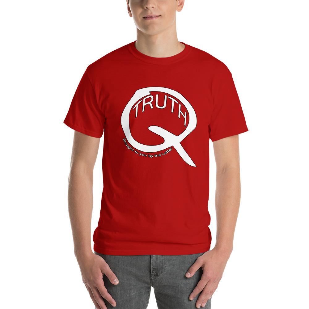 Truth Brought to You by the Letter Q QAnon T-Shirt-Red-S-Awkward T-Shirts