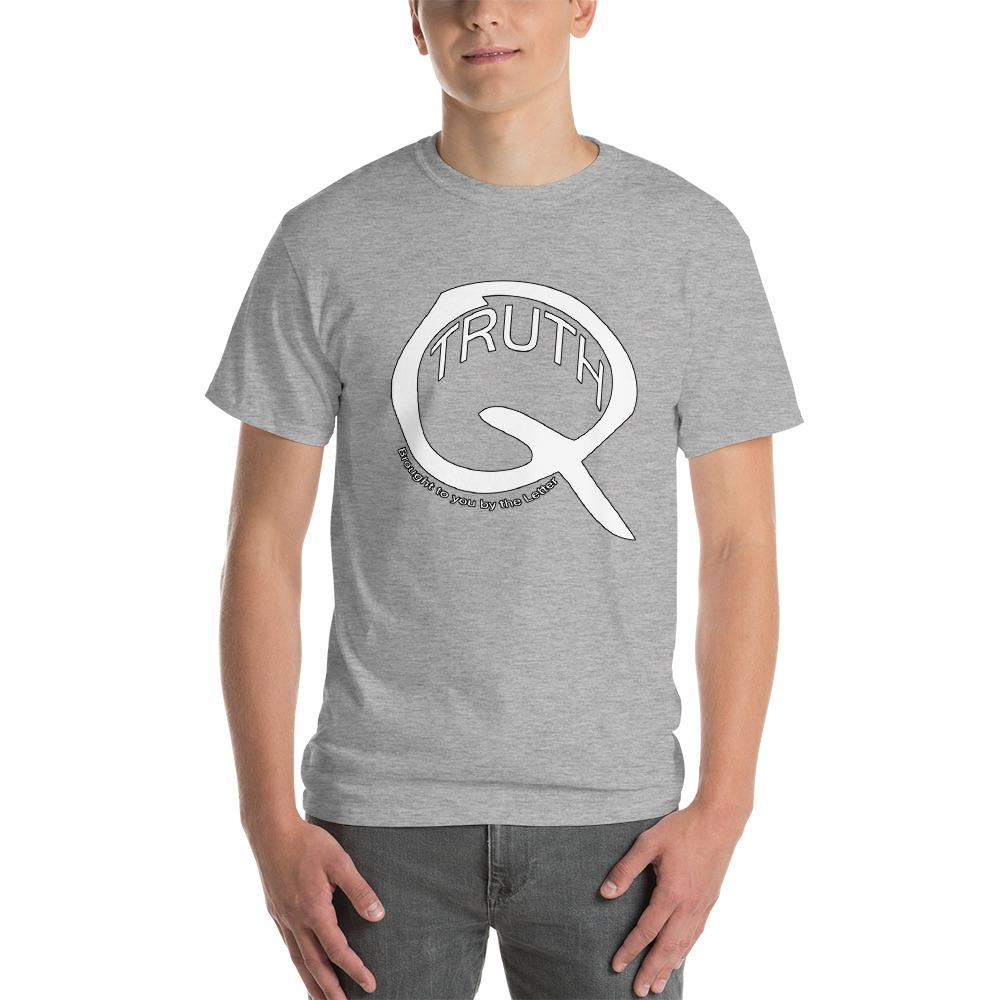 Truth Brought to You by the Letter Q QAnon T-Shirt-Sport Grey-S-Awkward T-Shirts