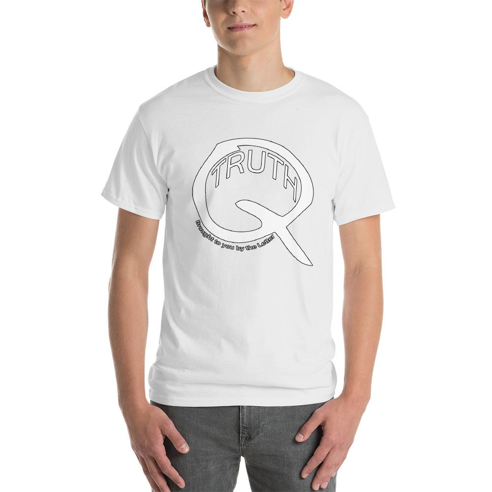 Truth Brought to You by the Letter Q QAnon T-Shirt-White-S-Awkward T-Shirts