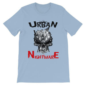 Urban Nightmare T-shirt-Light Blue-S-Awkward T-Shirts
