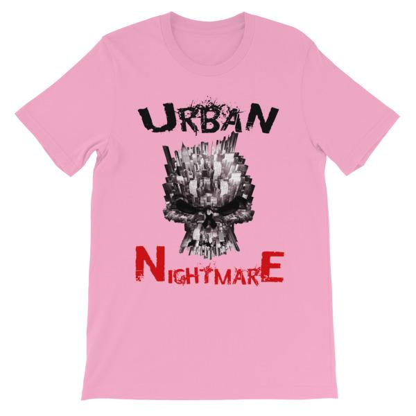 Urban Nightmare T-shirt-Pink-S-Awkward T-Shirts