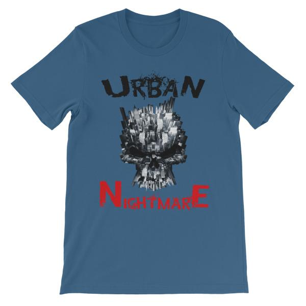 Urban Nightmare T-shirt-Steel Blue-S-Awkward T-Shirts