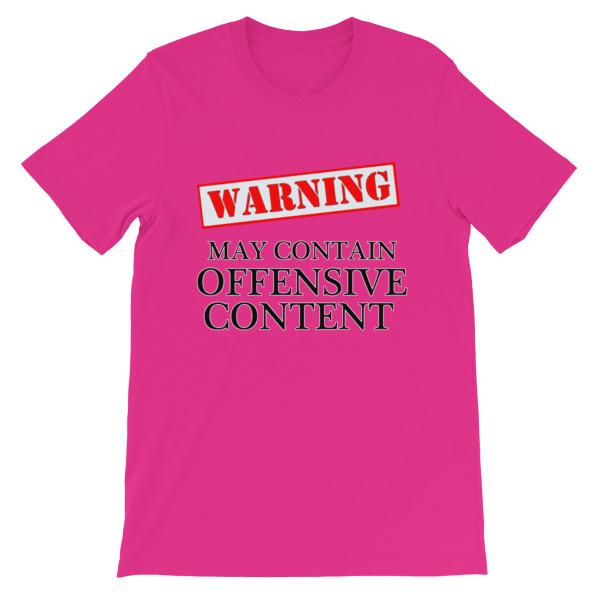Warning May Contain Offensive Content T-shirt-Berry-S-Awkward T-Shirts