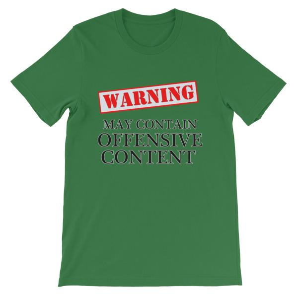 Warning May Contain Offensive Content T-shirt-Leaf-S-Awkward T-Shirts