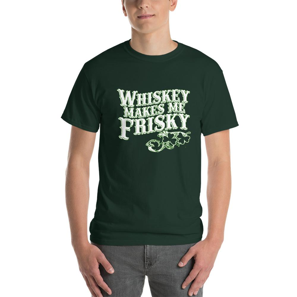 Whiskey Makes Me Frisky T-Shirt-Forest-S-Awkward T-Shirts