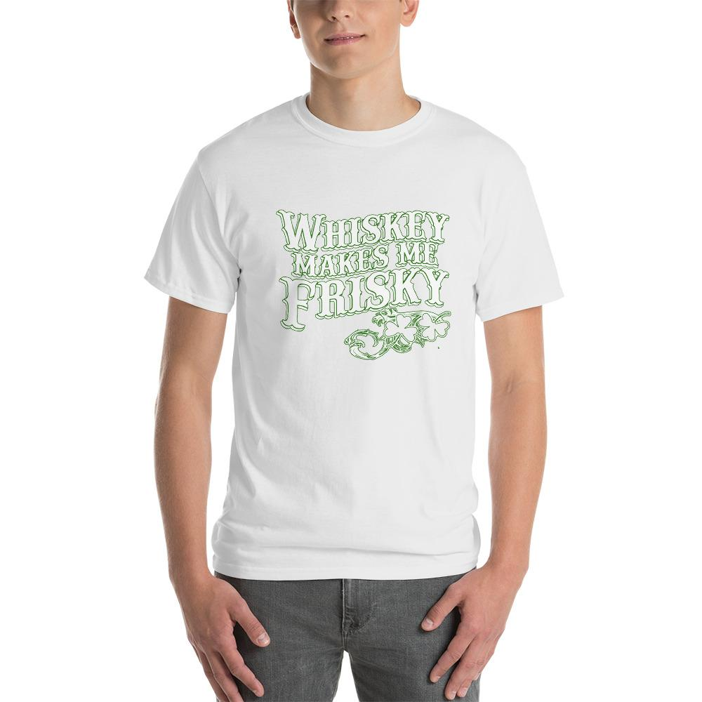 Whiskey Makes Me Frisky T-Shirt-White-S-Awkward T-Shirts