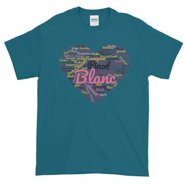 Wine Cloud T-shirt-Galapagos Blue-S-Awkward T-Shirts