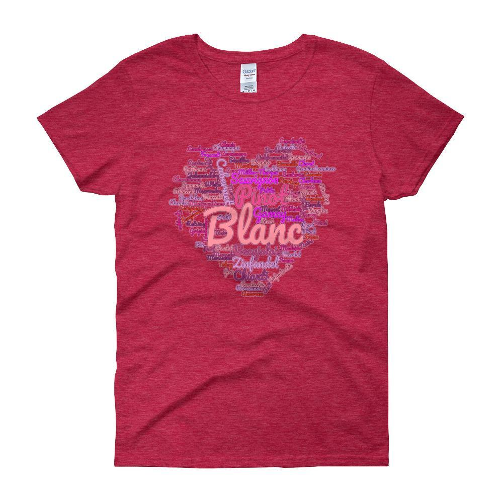 Wine Cloud Wine Lover's Women's T-shirt-Antique Cherry Red-S-Awkward T-Shirts