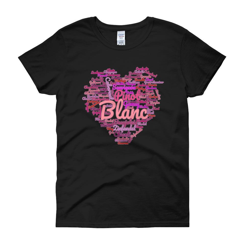 Wine Cloud Wine Lover's Women's T-shirt-Black-S-Awkward T-Shirts