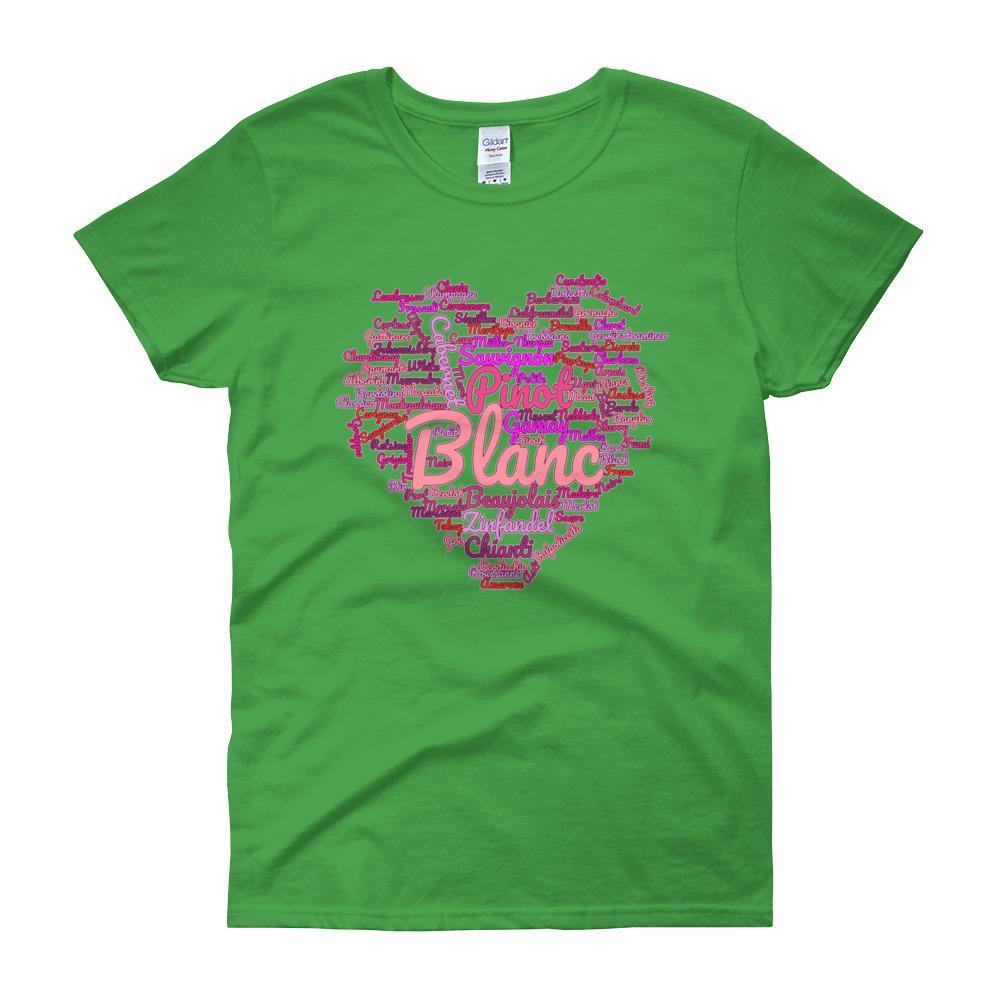Wine Cloud Wine Lover's Women's T-shirt-Irish Green-S-Awkward T-Shirts