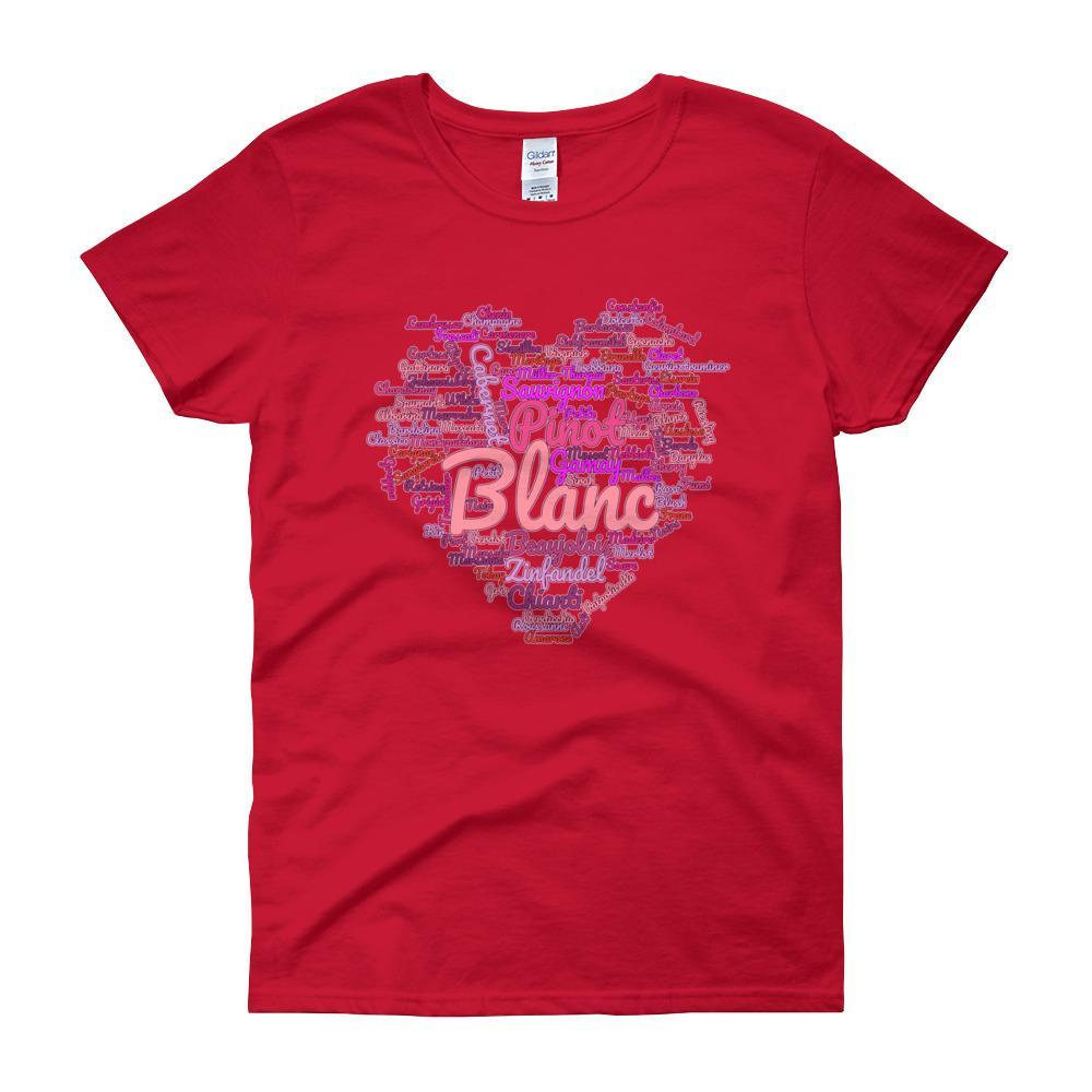 Wine Cloud Wine Lover's Women's T-shirt-Red-S-Awkward T-Shirts