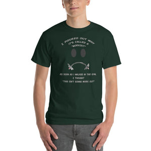 Workout - This Isn't Gonna Work Out Funny Gym T-Shirt-Forest-S-Awkward T-Shirts