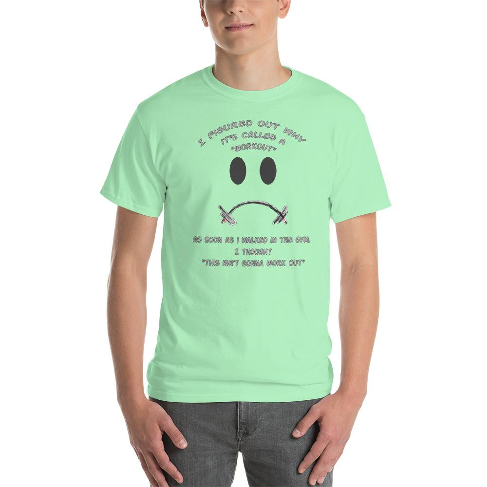 Workout - This Isn't Gonna Work Out Funny Gym T-Shirt-Mint Green-S-Awkward T-Shirts