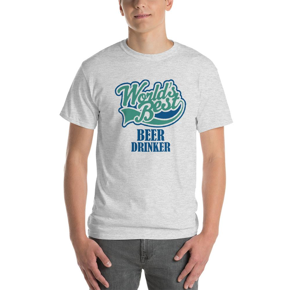 World's Best Beer Drinker Beer Lover T-Shirt-Ash-S-Awkward T-Shirts