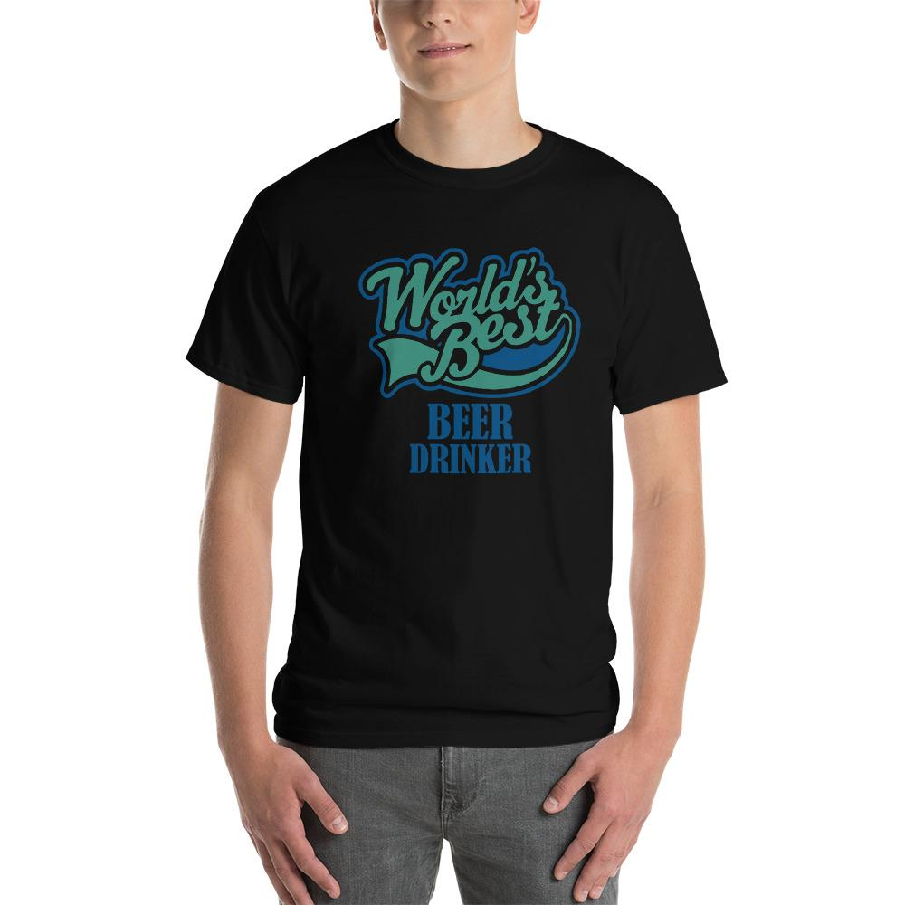 World's Best Beer Drinker Beer Lover T-Shirt-Black-S-Awkward T-Shirts