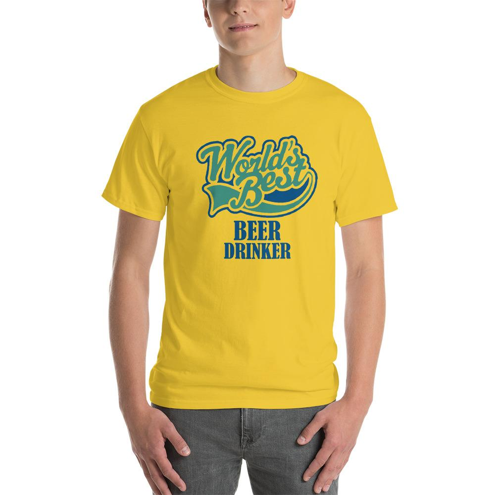 World's Best Beer Drinker Beer Lover T-Shirt-Daisy-S-Awkward T-Shirts