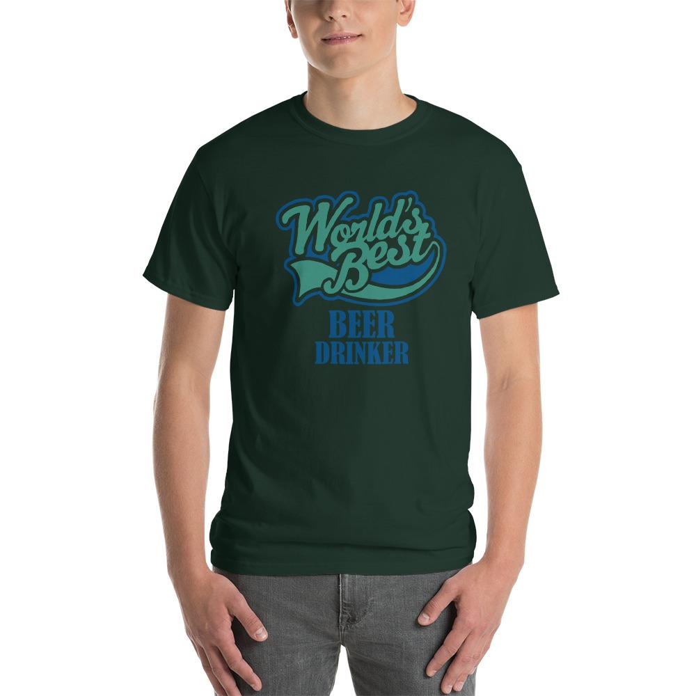 World's Best Beer Drinker Beer Lover T-Shirt-Forest-S-Awkward T-Shirts